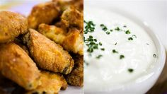 Crispy baked chicken wings with (an amazing) blue cheese dressing