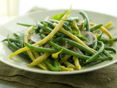 green beans, basil recipes, summer salads, bean salads, yellow bean, radish, onion, lemon, green bean recipes