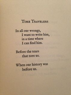 Time Travelers by Lang Leav. My heart