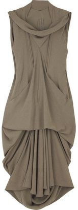 ShopStyle: Rick Owens Draped silk dress
