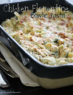 Chicken Florentine Bowtie Pasta text