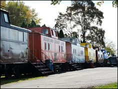 It's a train motel.  Yep, your room is a train car.  One has a jacuz.  Awesome.  Lancaster County, PA