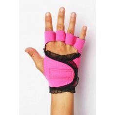 Hot Pink : Black Trim super cute weight lifting gloves!