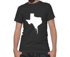 Texas Roots State T-Shirt - Unisex Adult Short Sleeved TX Tee Shirt - 100% Cotton - Hometown Roots Apparel