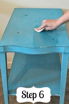 Distressed Furntiure Tutorial | Check out the steps on how to distress an old table. Try the art of upcycling. #DiyReady www.diyready.com