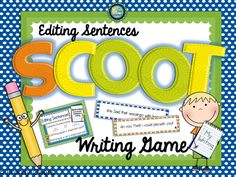 Editing Sentences SCOOT writing game!  Students edit sentences for capitalization, punctuation, and spacing.  Perfect for second & third grade.