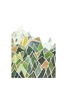 Landscape of Triangles and Dots by Yao Cheng for Minted