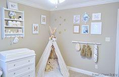 wall color, project nurseri, gold arrow