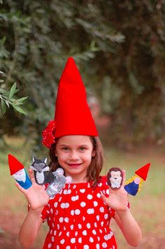 A Gnome Themed Birthday Party. Cute!