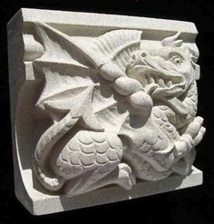 This is a splendidly archetypal Welsh Dragon.