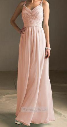 Light+Blush+Bridesmaid+Dress+Pearl+Pink+Long+by+WeddingBless,+$118.00