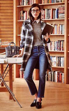 Smart is sexy. #preppy #college preppi colleg, plaid jacket