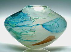 """Summer Bowl""  art glass vessel  by Randi Solin"