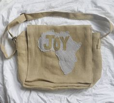 For the Joy of Africa Jute Messenger Bag by PreciousGoons on Etsy, $40.00