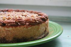 Almost Raw Pumpkin Pecan Cheesecake