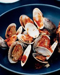 Pop-Open Clams with Horseradish-Tabasco Sauce Recipe from Food & Wine