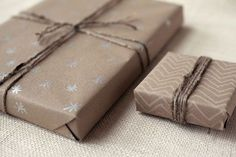 kraft paper and silv