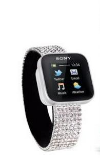Um yes, a Swarovski SmartWatch. A girl's gotta have her Bling!