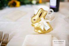 Lindt Bunnies as wedding favours at Keith & Sarah's Wedding at Old Kent Barn