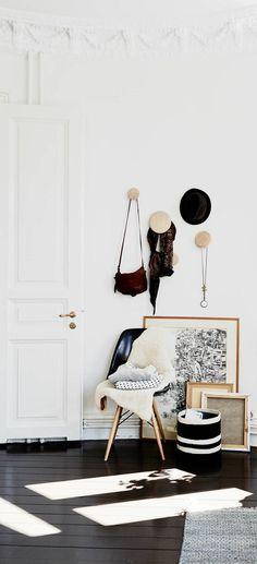 Beautiful home with black floors - via cocolapinedesign.com