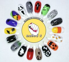 Halloween-theme Nail Art Menu by @Nailed It.