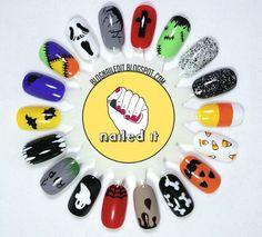 Halloween-theme Nail Art Menu by @Nailed It.
