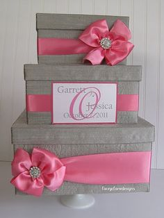 Card Box2 Tiers, Card Box For Wedding, Wedding Card Boxes, Gift ...