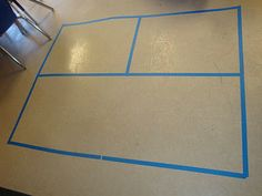 floor, painter tape
