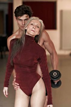 Eveline Hall (age 67) a one of the most sought after fashion models in Germany.