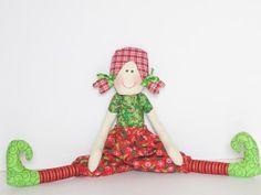 Elf doll Cloth doll softie stuffed doll cute by HappyDollsByLesya, $35.00