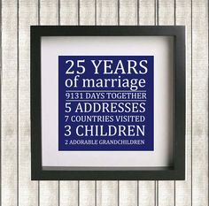 Easily customized for any couple's anniversary!  Printable Parent's Wedding Anniversary Gift  by GotPaperDesigns, $7.95