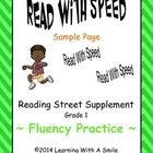 This FREEBIE is part of my READ WITH SPEED activity packet for Reading Street.  It's free, so why not give it a try?  *This product can be used wit...