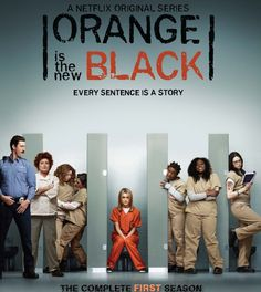 ORANGE IS THE NEW BLACK SEASON 1.  Tells the story of Brooklynite Piper Chapman, whose wild past comes back to haunt her and results in her arrest and detention in a federal penitentiary. To pay her debt to society, Piper trades her comfortable New York life for an orange prison jumpsuit and finds unexpected conflict and camaraderie amidst an eccentric group of inmates.  http://highlandpark.bibliocommons.com/search?t=smart&search_category=keyword&q=orange+new+black&commit=Search&formats=DVD