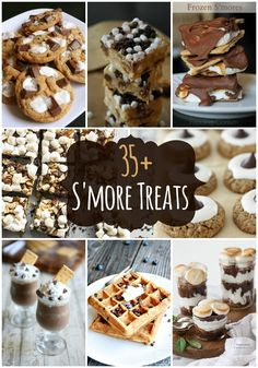 35+ S'more Treats, from waffles and milkshakes to cookies and cakes!! { lilluna.com }