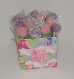 Cake pops for a My Little Pony birthday party. Tobie turning 2