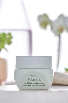 Wake up to brighter eyes with Aveda Tulasara Wedding Masque Eye. This rich, moisturizing, fragrance-free eye creme is a must-have in your skin care routine, helping diminish the look of dark circles as you sleep. Wedding Masque Eye overnight fortifies and strengthens your skin's lipid barrier, sealing in moisture overnight.Plant-derived caffeine helps reduce visible puffiness of eyes. Potent turmeric extract helps brighten. Click for more skincare products for brighter, nourished looking skin.