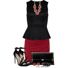 """""""Red Skirt"""" by latkins77 on Polyvore"""
