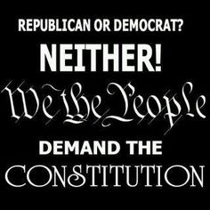 We the people believe in our Constitution!