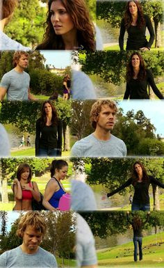 Kensi & Deeks... perfect partners and always good for a laugh!: Funny scene from NCIS:Los Angeles    Deeks asks Kensi to pick him up from Yoga…Kensi looks around and sees scantily clad women eyeing Deeks.    Kensi: You set me up.  God, you're using me as bait.    Deeks: Not bait.  It's wing-man. This is what partners do.    Kensi: Do you know how utterly unprofessional this is?    Deeks:  Keep talking.  Don't stop.  Get angry, act like we're breaking up... go.    Kensi: Are you for real? (begins to walk away)    Deeks: Aww.. come on!  Sunshine, wait!    Kensi: Stay away from me. It's over.  I can't do this anymore.    Deeks: Listen, I'm sorry.  I know it's tough when I'm on the road all the time..touring…with the band. (scantily clad women eyeing him more and smiling)    Kensi: I don't care about that.  You cheated on me…with my brother!    Scantily clad women look shocked and walk away.  Kensi walks away with a victory fist pump!  Kensi - 1, Deeks - 0