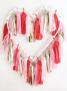 DIY Tasseled Heart (