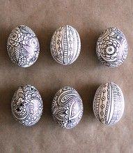 Zentangles on Eggs!