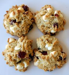 Oatmeal Cranberry White Chocolate Chip Cookies from 365 Days of Baking & More