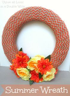 7Alive all Livin' in a Double Wide: 10 Minute Summer Wreath