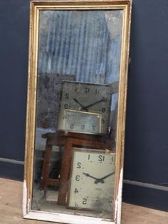 Small Heavily Distressed Mirror, Antique Mirrors, Drew Pritchard