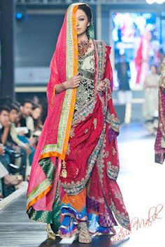 Ali Xeeshan outfit at Pakistan Bridal Week 2012