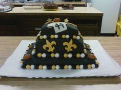Thanks to Jamie Luke for sending this pic of a Saints-theme cake! #NOLA #GroomsCake #Cake #Saints
