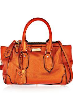 Burberry Prorsum|Metallic leather tote|NET-A-PORTER.COM