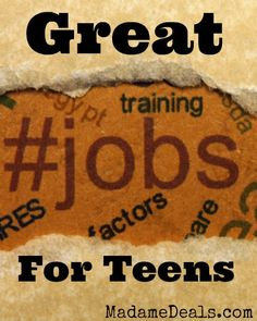 List of Great Jobs for Teens http://madamedeals.com/great-job-teens/ #inspireothers #jobs #teens