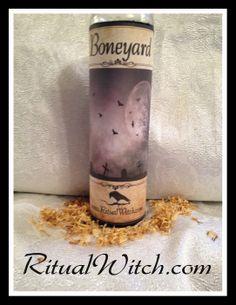 Hoodoo Boneyard Fixed Candle Voodoo Witchcraft by RitualWitchShop, $24.95