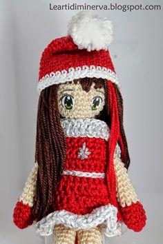 free pattern :  Christmas doll Amigurumi by MaryJ Handmade